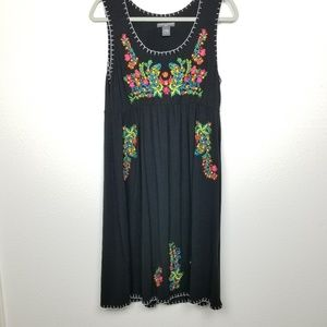 Chelsea & Theodore | shift dress | embroidered
